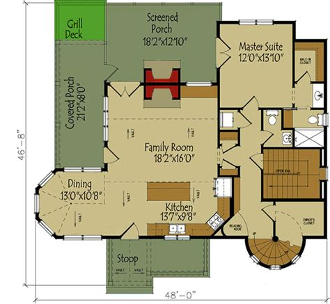 3 bed tale house plan 92370mx 1st floor master