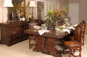 lavish antique dining room furniture emphasizing classic