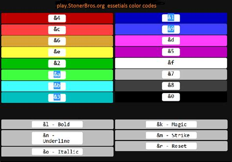 Minecraft Color Codes Related Keywords Minecraft Color Minecraft Colors