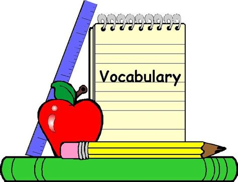 words clipart vocabulary words clip cliparts