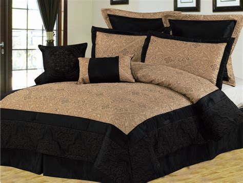 Black And Gold Comforters by 8pcs King Black And Gold Bedding Comforter Set Ebay