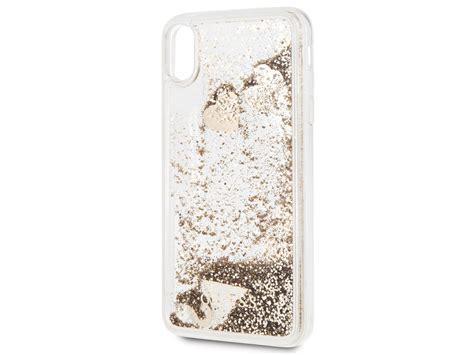 guess floating logo case goud iphone xs max hoesje