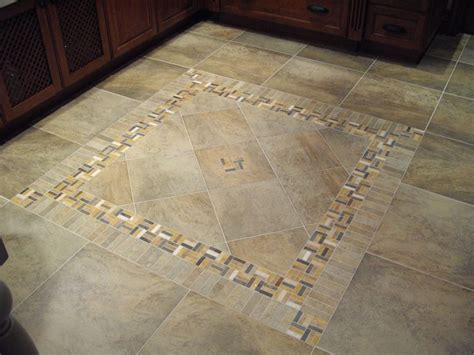 Tile Pattern Descriptions | porcelain tile with decorative inlay for a kitchen area