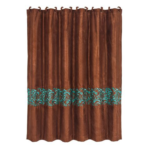 western scroll shower curtain