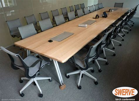 20 conference table 20 person conference table of solid bleached birch