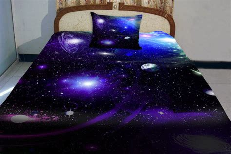 galaxy bed spread galaxy bedding set two sides printing from tbedding on etsy
