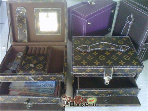 Cosmetic Bag Organizer Lv Mono Kulit Tas Kosmetik Pouch Travel new model jewelry box motiv lv jogja handycraft