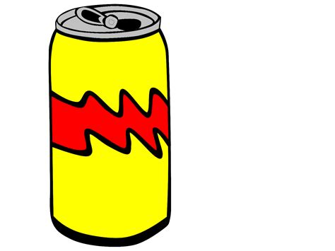 can clipart yellow pop can clip vector clip royalty
