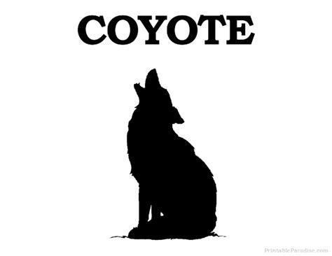 printable animal silhouette targets printable coyote silhouette print free coyote silhouette