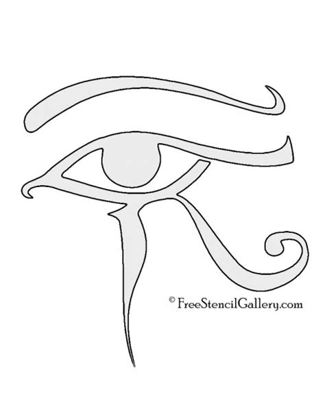 printable egyptian stencils egyptian eye of horus stencil free stencil gallery