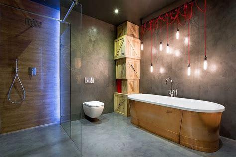 bathroom ambient lighting high end bachelor pad design stunning loft in kiev by