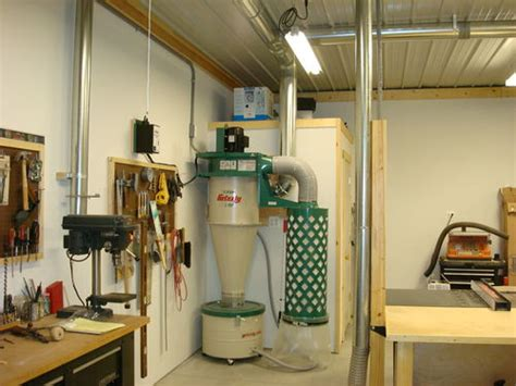 woodworking shop dust collection system captferd s workshop lumberjocks woodworking community