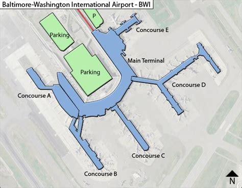 bwi airport map bwi baltimore washington airport terminal maps