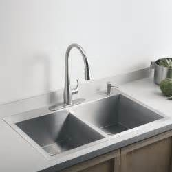 Sinks Stainless Steel Kitchen Kohler Vault 3820 1 Na Stainless Steel Bowl Kitchen Sink
