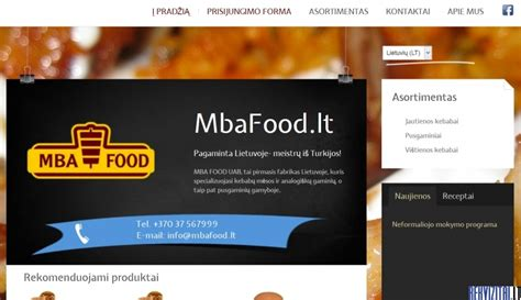 Mba Uab by Mba Food Uab Contacts Map Rekvizitai Lt