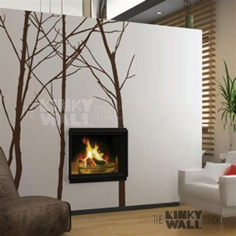 tree wall decals for living room winter trees wall decal office nature living room wall