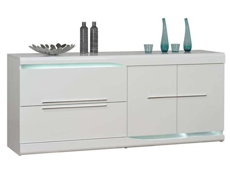 Buffet Tables For Dining Room by Buffet 2 Tiroirs 2 Portes Ovio Coloris Blanc Laqu 233