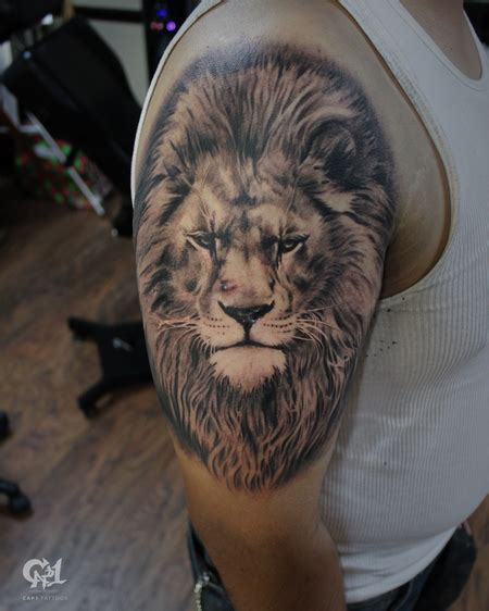 realistic lion tattoo tattoonow