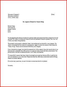 appeal letter for timely filing successfulpractice net