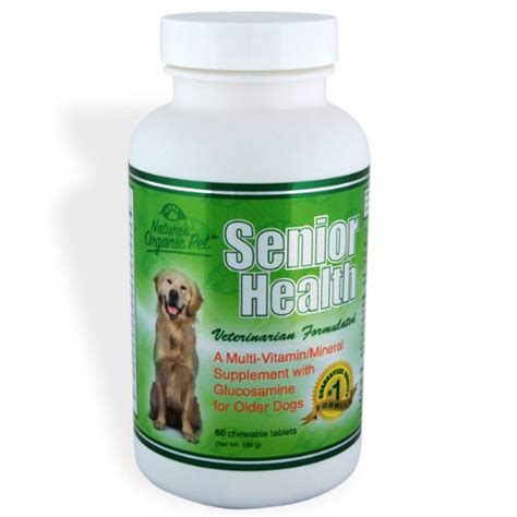 nature s organic pet senior health multi vitamin mineral supplement with glucosamine for