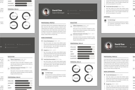 resume psd template rar free resume cv design template psd file resume