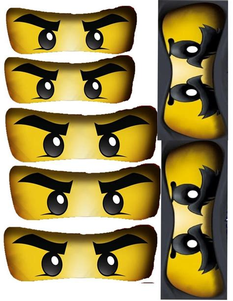 printable ninjago eyes for balloons ninjago birthday party free ninjago party printables