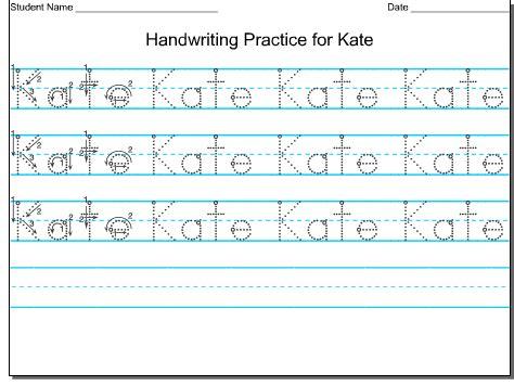 Handwriting Worksheets Name by Handwriting For Preschool Writing