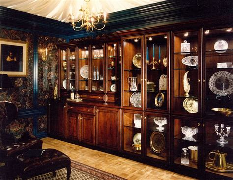 Custom Built In Cabinetry For Home China Display Library by Cabinets & Design Iron Llc