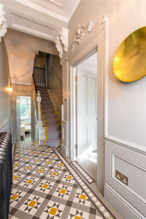 Yellow Foyer by Grey And Yellow Entryway Hallway The Beautiful