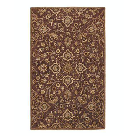 home decorators area rugs home decorators collection reine brown 8 ft x 8 ft round area rug 9907960820 the home depot