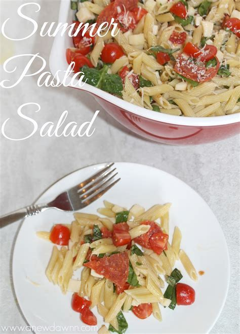 delicious pasta salad recipe delicious summer pasta salad recipe a new dawnn
