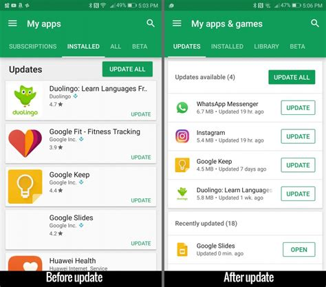 Play Store New App New Play Store Update Makes It Easier To Manage