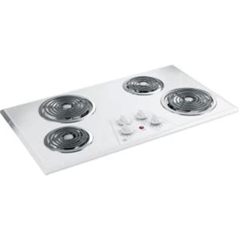 36 inch electric coil cooktop ge 36 in coil electric cooktop in white with 4 elements