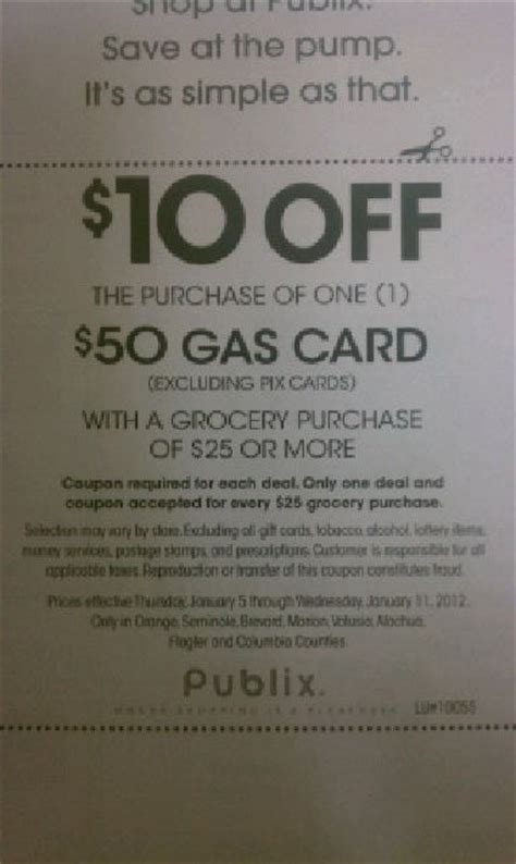 Gasoline Gift Card Deals - gas gift card deal starting thursday at publix who said nothing in life is free