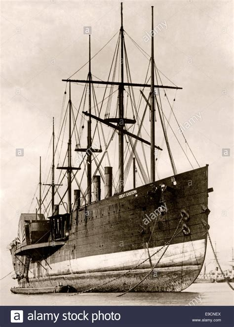 big boat on the mersey ss great eastern river mersey liverpool c 1889 the