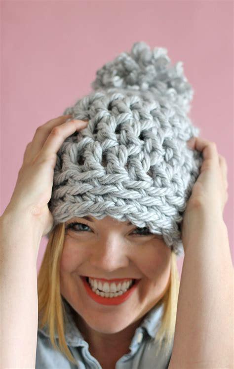 crochet pattern chunky yarn hat 30 minute easy chunky crochet beanie persia lou