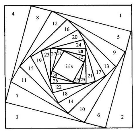 iris folding template squaretemplate