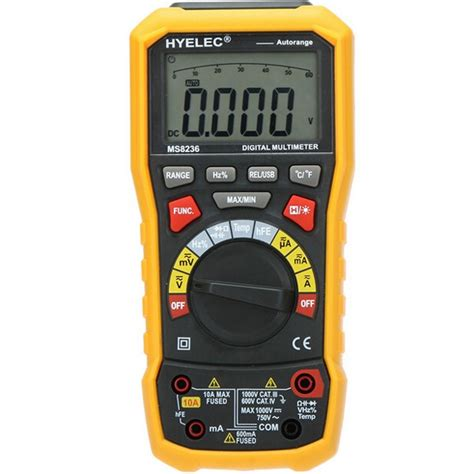 testing capacitors with a multimeter hyelec ms8236 auto range multimeter with ac dc volt resistance capacitance frequency temp