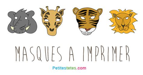 Masques Animaux Sauvages