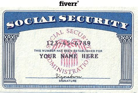 social security card template photoshop make novelty social security card driver license or