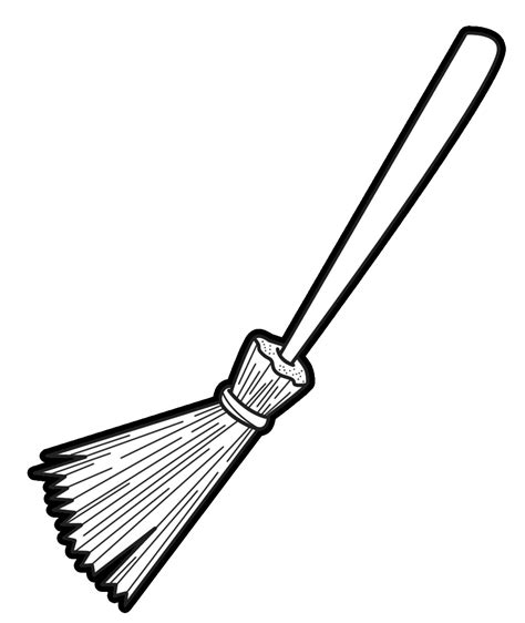 Broom Clipart Black And White broom black and white clipart