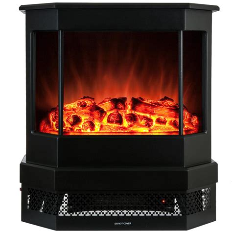 akdy 23 in freestanding electric fireplace stove heater