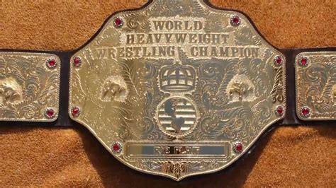 real wcw  mar big gold wrestling championship title belt
