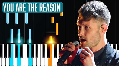 calum scott you are the reason tutorial sheets youtube calum scott quot you are the reason quot piano tutorial chords