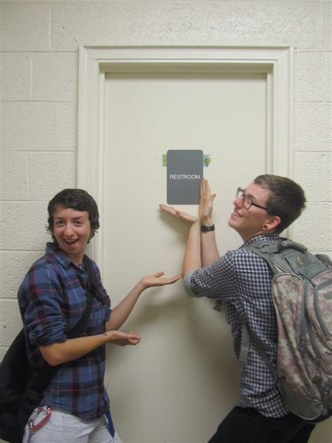 gay bathroom signals new single use gender neutral signage installed on