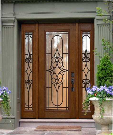 Exterior Fiberglass Doors With Sidelights Us Door And More Inc Make Your Entry Door Trendy With Sidelights