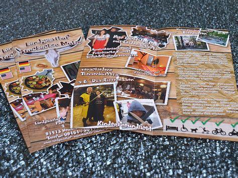Postkarten Billig Drucken Lassen by Faltblatt 1 Bruch Mittig 4 Seitig Drucken G 252 Nstig Mit