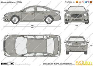 the blueprints vector drawing chevrolet cruze