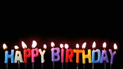 happy birthday candles  red background stock footage video  shutterstock