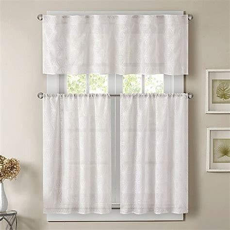 36 inch window curtains buy madison park gemma 36 inch sheer window curtain tier
